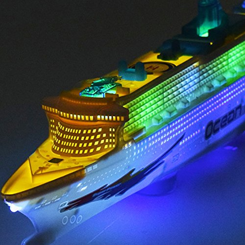 Chinatera Children Music Ocean Liner Flashing LED Sound Electric Cruises Boat Model Toys (Cruise Ship Model compare prices)