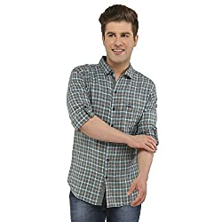 Attila Men's Casual Shirt (11065205C0_Grey Blue_38)