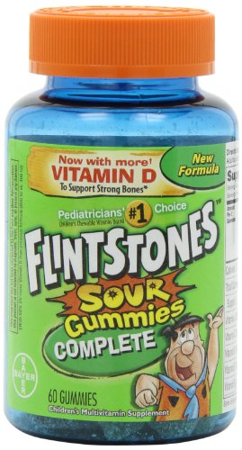 Flintstones Children'S Complete Multivitamin Sour Gummies, 60-Count (Pack Of 2)
