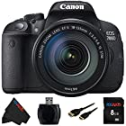 Canon EOS 700D Digital SLR Camera and 18-135mm EF-S IS STM Lens (Black) + 8 GB Pixi-Basic Accessory Bundle