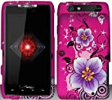 TRENDE - Hibiscus Flowers Hard Snap On Case Cover Faceplate Protector for Motorola Droid RAZR XT912 Verizon + Free Texi Gift Box