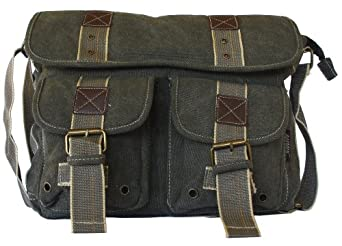Military Style Messenger Bag Laptop Bookbag Backpack Field Bag Cross Body