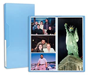 Pioneer Photo Albums CF-3 144-Pocket Poly Cover Space Saver Photo Album, Blue