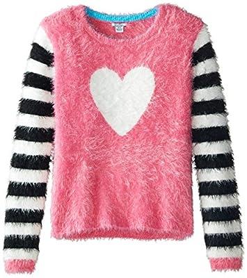 Hartstrings Big Girls' Novelty Yarn Heart Sweater by Hartstrings Girls 7-16