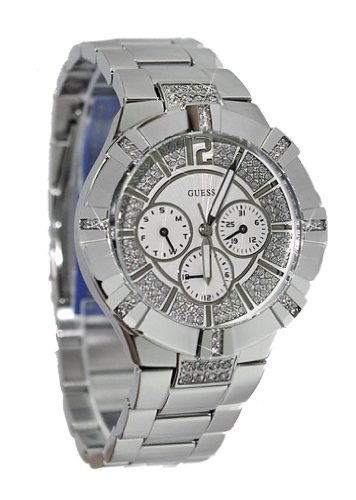 GUESS U12601L1 Dazzling Sport Watch - Silver-tone Steel