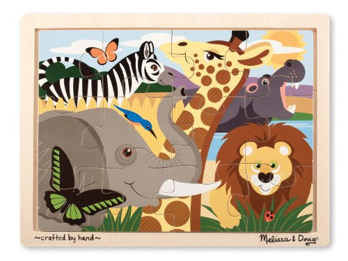 Melissa & Doug African Animals Jigsaw Puzzle (12-Piece) - 1