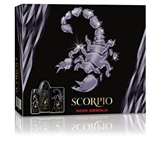 Scorpio SCORPIO - Coffret 3 produits - Noir Absolu - Eau de toilette flacon 75ml , Gel Douche 250ml &  Dédodorant atomiseur 150ml