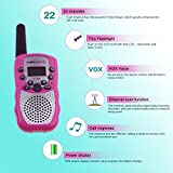 Zomei T388 2Pcs Mini Walkie Talkie 3-5KM Range 22-Channel FRS/GMRS UHF Two-Way Radios Coloful Walkie-Talkie For Kids(Pink)