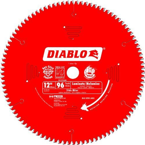Freud D1296N Diablo 12-Inch 96 Tooth TCG Non-Ferrous Metal and Plastic Cutting Miter Saw Blade with 1-Inch Arbor Size: 1, Model: D1296N, Outdoor & Hardware Store (12 Inch 96 Tooth Saw Blade compare prices)
