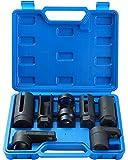 Ztech 7pcs O2 Oxygen Sensor & Oil Pressure Sending Unit Master Sensor Socket Set