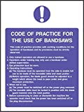 Food Processing Safety Sign Code Of Practise For Bandsaws 200x265mm