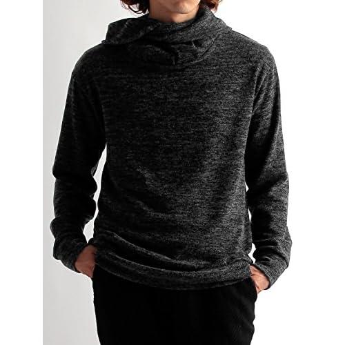 (ラフタス)Rafftas 日本製 オフタートルネック ニット フリー サイズ チャコール 秋 冬 春 メンズニット メンズセーター デザイナーズ メンズ