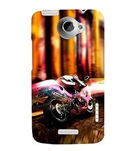 EPICCASE Racer Mobile Back Case Cover For HTC One X (Designer Case)