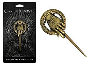 Charm Buddy Game of Thrones Song of Fire and Ice Replica Hand of The King Bronze Lapel Pin Brooch Presentation Pack
