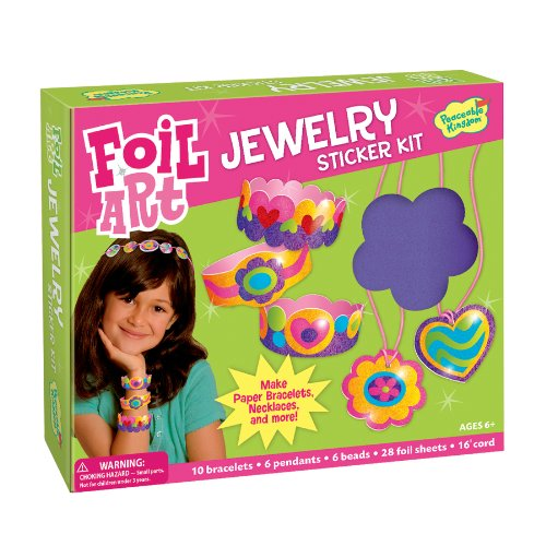 Peaceable Kingdom / Foil Art Jewelry Sticker Kit front-633182