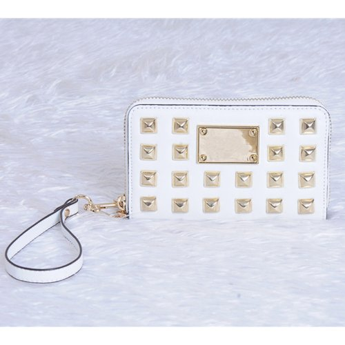 Iphone 5,4S,4 Zip Around Pyramid Multifunction Phone Case Wristlet Wallet White