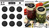 Chalky Talky 40 Regular Mason Lid Reusable Chalkboard Canning Lid Labels Fit Ball, Kerr, Mason Jars