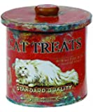 Creative Co-Op Decorative Tin Cat Treat Container