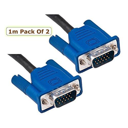 Cavo per monitor PC VGA/SVGA 15PIN maschio a maschio/piombo/ricambio per PC, laptop, computer, Mac a schermo lcd, TFT Monitor