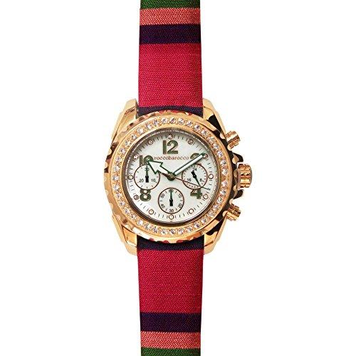 orologio cronografo unisex RoccoBarocco Rainbow trendy cod. RB0288