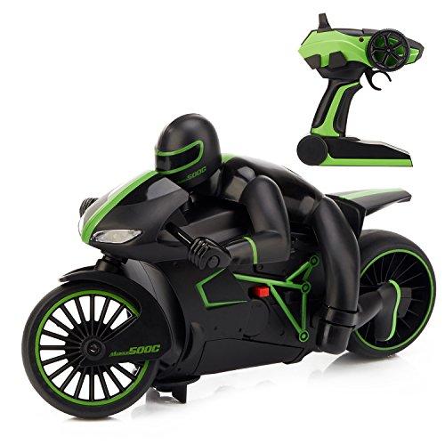 RC-Motorrad-Auto-Hochgeschwindigkeit-20km-h-Ferngesteuertes-Motorrad-im-Mastab-118-65-Fernbedienung-Gelndewagen-20-Minuten-Spielzeiten-4WD-Schnelle-Race-Truck-24-GHz-RC-Buggy-Hobby-Auto-Grn