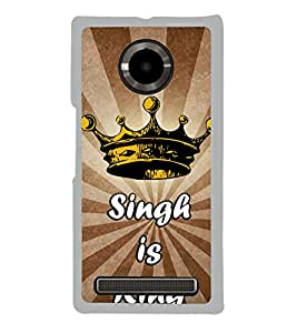 Singh is King 2D Hard Polycarbonate Designer Back Case Cover for YU Yuphoria :: YU Yuphoria YU5010