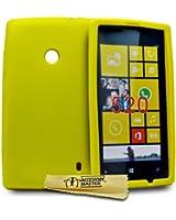 Accessory Master Etui en silicone pour Nokia Lumia N520 Jaune