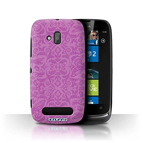 Stuff4 Hülle / Hülle für Nokia Lumia 610 / Rosa Muster / Insekten Muster Kollektion