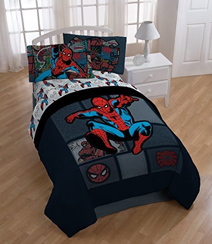 Best Buy! Spiderman Jump Twin Sheet Set and Comforter