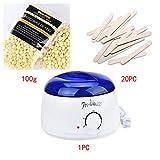 Wax Warmer Machine Kit, Inkach Electric Hair Removal Bean/Wiping Sticks/Hot Wax Warmer Heater Pot Depilatory Set (G)