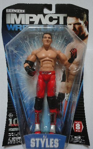 TNA Wrestling Deluxe Impact Series 8 Action Figure AJ Styles (Wwe Aj Cards compare prices)