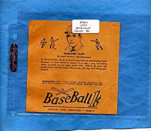 Buy 1938 R301 Overland Candy Baseball Wrapper Harland Clift by Dan's Vintage Cards