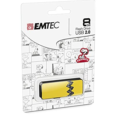 EMTEC - Peanuts Gang 8GB USB 2.0 Flash Drive - White
