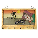 R S Jewels Wooden Gemstone Painting Key Holder Hanger Stand