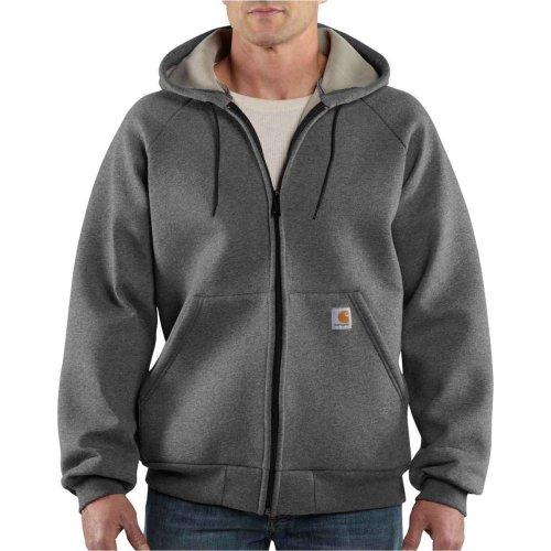 Carhartt Car-Lux Midweight Hooded Zip Front Sweatshirt Carbon Heather M,L,XL,XXL Mens