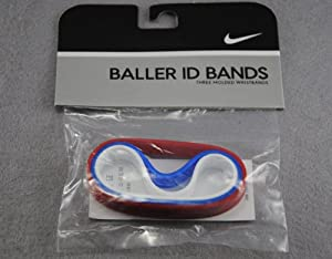 Nike baller id bands for adult (USA team color) Red Blue White by Nike