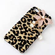 Bling Diamond White Pearl Leopard Hard Case Apple iPhone 5