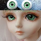 BJD doll eyes 14mm sand light green acrylic half ball SD/MSD eyes 1 pair