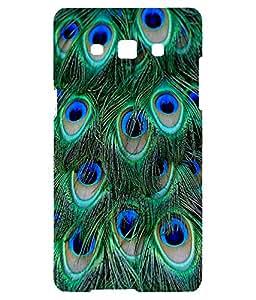 Letz Dezine Peacock Design Printed Mobile Back Cover for SAMSUNG GALAXY J7- Multicolor