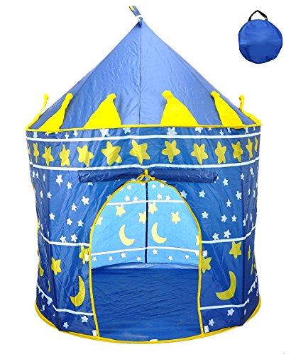 Cheap Star Castle Prince House Indoor Boys Blue Tent Ourdoor Kids Play Hut by POCO DIVO