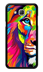 """Humor Gang Lion Colorful Printed Designer Mobile Back Cover For """"Samsung Galaxy A5"""" (3D, Glossy, Premium Quality Snap On Case)"""