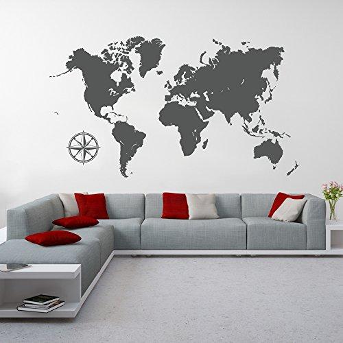 Continents-dcoration-murale-carte-du-monde-sticker-mural-motif-carte-du-monde-world-map-design-tattoo