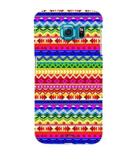 Different Color Pattern 3D Hard Polycarbonate Designer Back Case Cover for Samsung Galaxy S6 :: Samsung Galaxy S6 G920