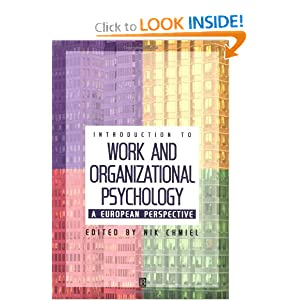 An Introduction to Work and Organizational Psychology: A European Perspective  by Nik Chmiel