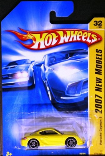 2007 New Models -#32 Porsche Cayman S Yellow #2007-32 Collectible Collector Car Mattel Hot Wheels 1:64 Scale