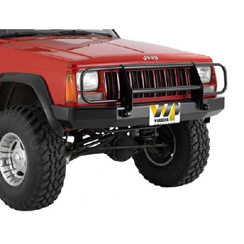 Warrior Products Front Contour Bumper with Brush Guard and D-Rings for Jeep Cherokee XJ