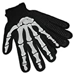 Skeleton Hand Knit Gloves Mechanics Work Biker OSFM