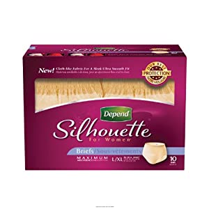 Depend Silhouette Briefs for Women [DEPENDS SILHOUETTE F LG-XL] from KIMBERLY CLARK