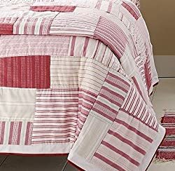 martha stewart blue striped patchwork quilts buttonhole