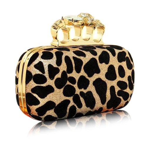 Discover Bargain Leopard Point Skull Rings Clutch Handbag Fashion Gifts-colors Available